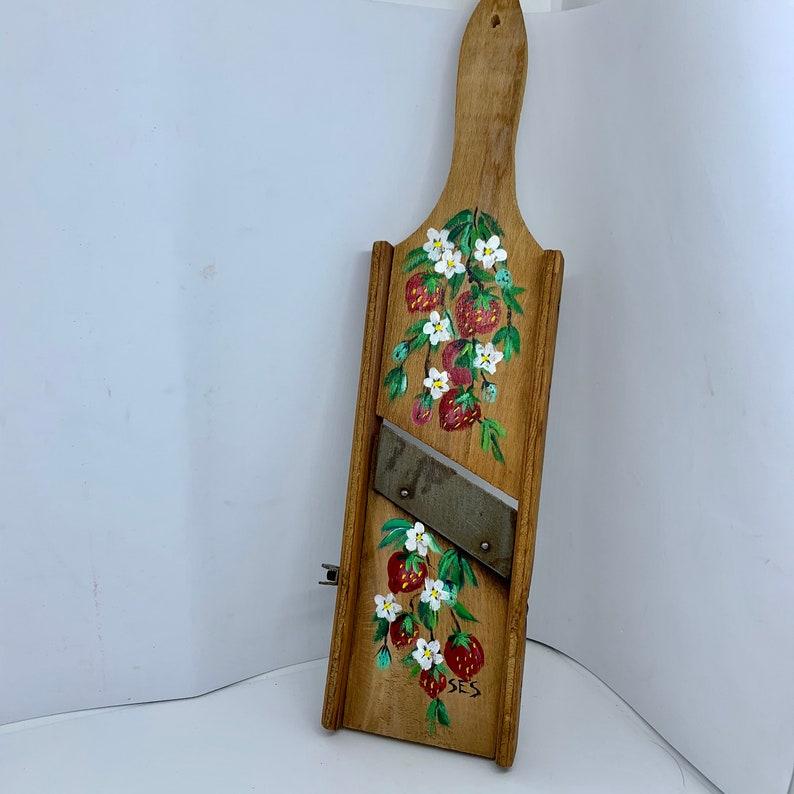 Decorative Wooden Vintage Food Grater Kitchen Decor Hand image 0