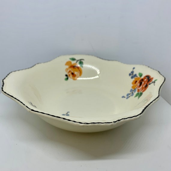 La Salle HAVILAND Shallow Serving Bowl with Wild Flowers designed by Haviland and Co Limoges France Pretty Floral Dinnerware