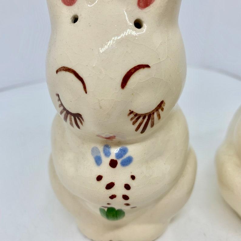 Ceramic Rabbit Salt and Pepper Shaker Set