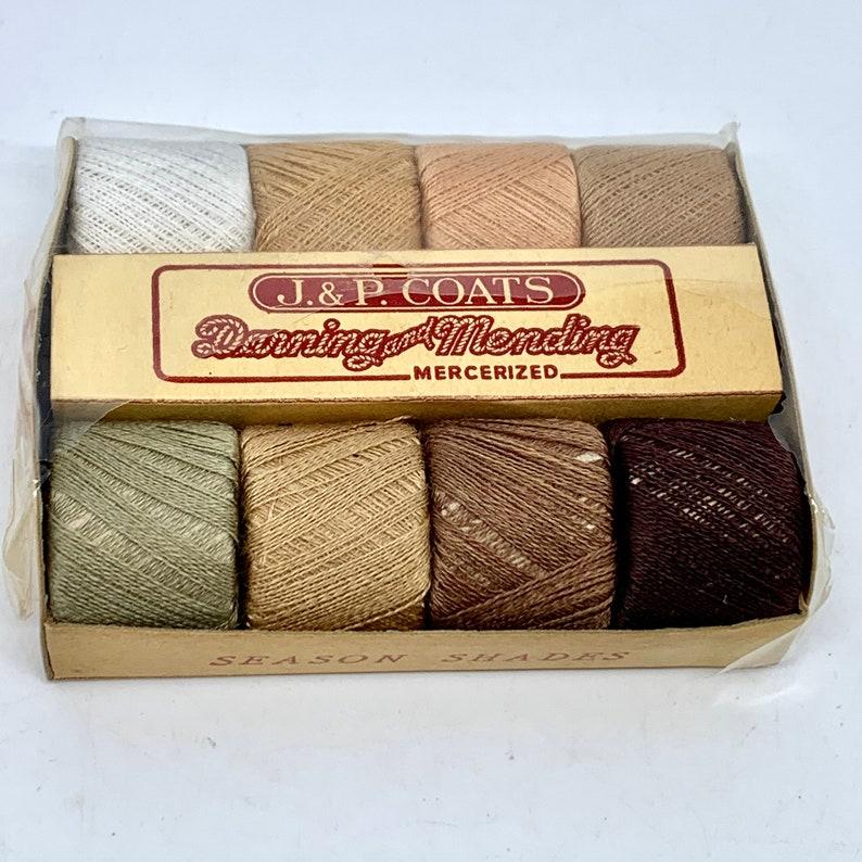 J & P Coats Darning and Mending Yarn Mercerized Cotton Thread image 0