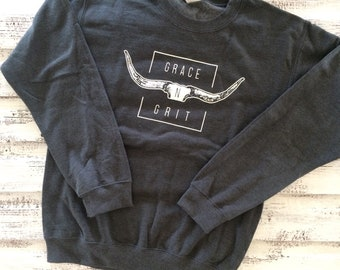 Crew neck sweatshirt-Dark grey