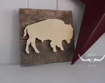 "Wooden mini - ""Natural buffalo"""