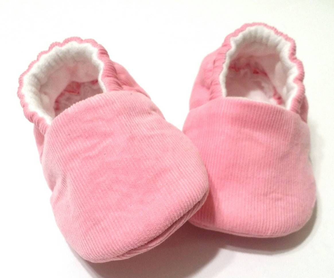 d0794c18b5a6f Cotton Candy (7K Collection) Baby booties/baby shoes/baby girl/Newborn/crib  shoes/baby gift/Corduroy/pink/toddler shoes/soft sole