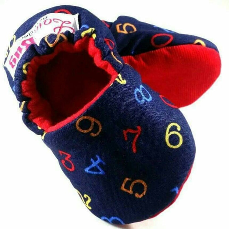 f330c9c98bb7f Let's Count Baby Booties: Baby shoes / Gender Neutral / baby boy / baby  girl / newborn / crib shoes / baby slippers / baby shower gift /gift
