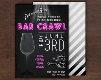 Bar Crawl Invitation Etsy