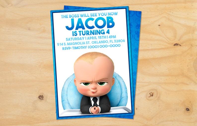 Custom The Boss Baby Birthday Invitation Digital Printable Or E Vite 5x7 Or 4x6