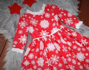 girls  Dress, Snowflake