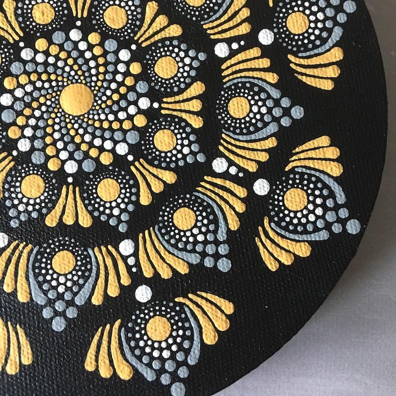 punkt mandala malerei leinwand dotting mandala stein