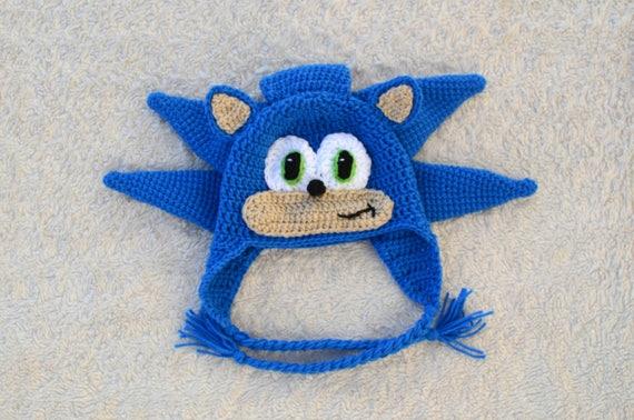 Sonic The Hedgehog Crochet Hat  a57a34c6625