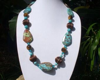 Ocean Jasper with Copper Beads