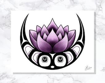 Lotus Moon - Fine Art Print - Open Edition - Northwest Coast Art
