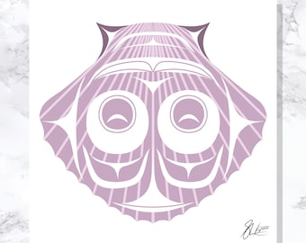 Scallop Shell - Fine Art Print - Open Edition - Northwest Coast Art