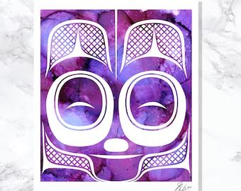 "Mouse Women - Fine Art Print - Open Edition - Northwest Coast Art - 20"" x 24"""