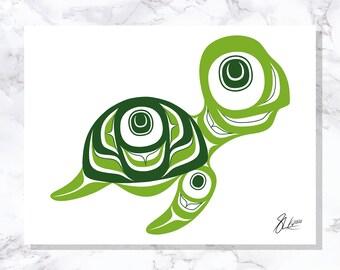 Turtle - Fine Art Print - Open Edition - Northwest Coast Art