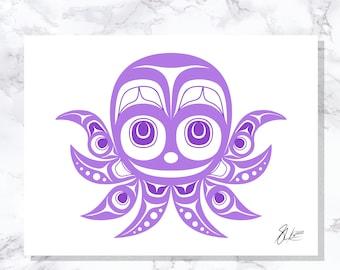 octopus - Fine Art Print - Open Edition - Northwest Coast Art