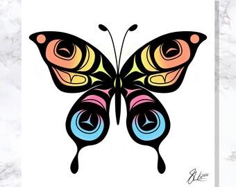 Butterfly - Fine Art Print - Open Edition - Northwest Coast Art