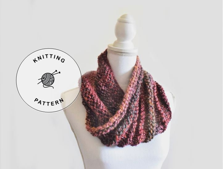 Eclectic Waves Cowl Knitting Pattern Beginner Cowl Knitting Etsy