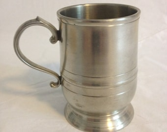 Crown and Rose Cast Pewter Miniature Tankard Made in England