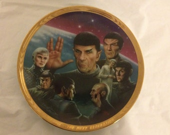 Star Trek The Next Generation Unification The Episodes Plate Collection 1994