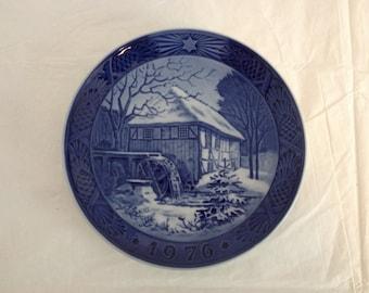 Royal Copenhagen 1976 Christmas Plate Vibek Water-Mill