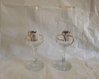 1988 Calgary Petro Canada Olympics Flute Glasses (2)