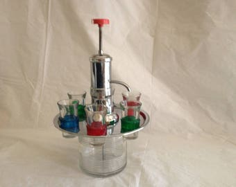 1950s Vintage Revolving Shot Dispenser ~ Bar Decor