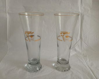 1988 Petro Canada Winter Olympics Tall Beer Style Glasses (2)
