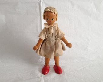 Vintage Wooden Polish Doll
