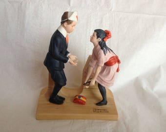 "Norman Rockwell Porcelain Figurine ""First Dance"" September 1980"