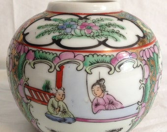 Chinese Rose Medallion Export Pot ~ East GuangDong Porcelain Factory ~ Circa 1920s