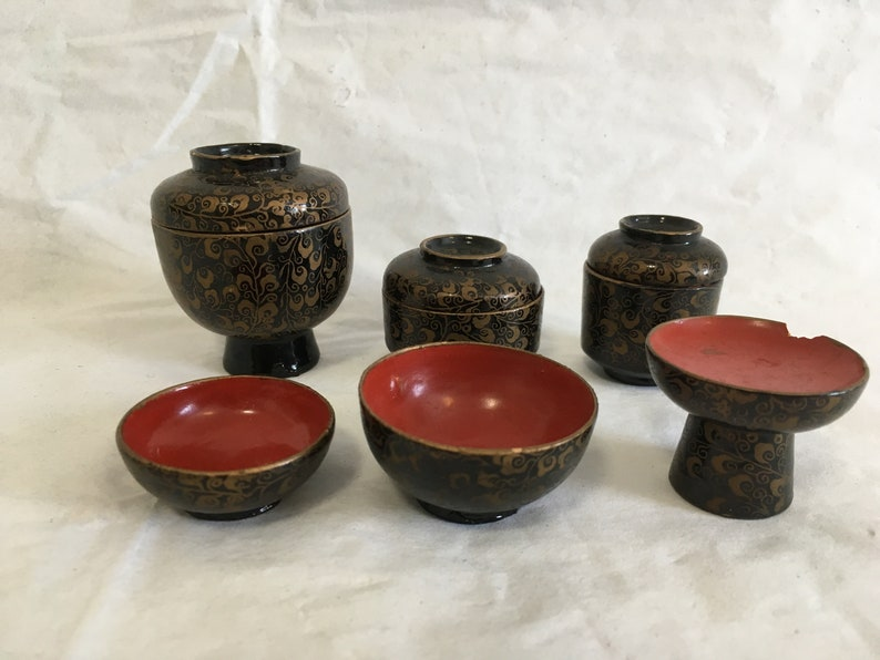 Wooden Serving Plate Japanese Miniatures