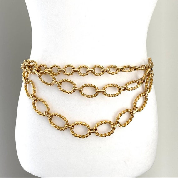1960s vintage gold chain belt