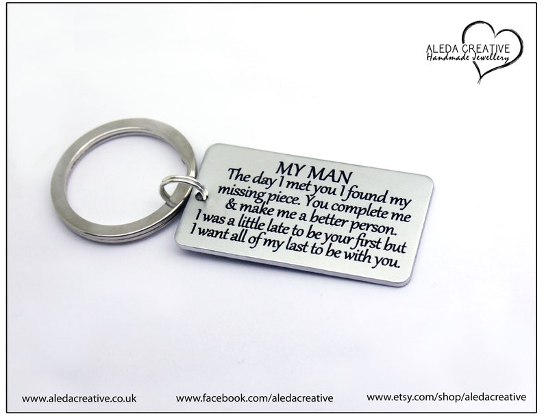 Jewelry & Accessories To My Woman Jewelry Gift Hand Stamped I Was A Little Late To Be Your First But I Want All Of My Lasts To Be With You Bracelets & Bangles
