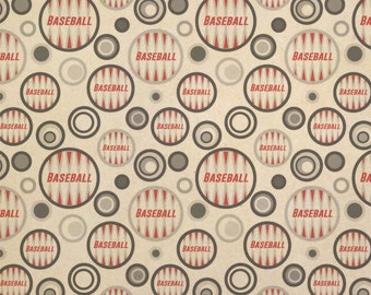 Baseball Kraft Present Gift Wrap Wrapping Paper
