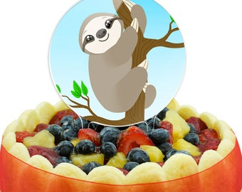 Sloth Just Hanging Around Cake Top Topper