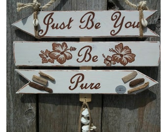 """Sold luxury signpost """"Pure"""""""