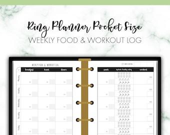 weekly food log etsy