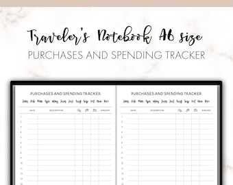 spending tracker etsy
