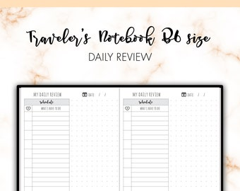 Traveler's Notebook B6 Daily Schedule DO1P Day On One Page Insert Printable