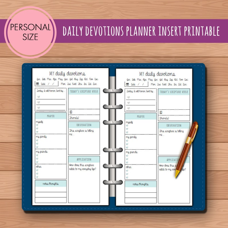 graphic about Printable Devotions called Person Day-to-day Devotions Religion Bible Review Planner Increase Printable Suits Kikki K Medium Filofax Unique Fast Down load