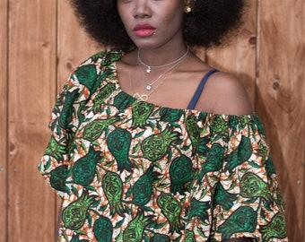 African Fabric Handmade Allround Summer and All Seasons Top Blouse Throw On Wrap Kimono