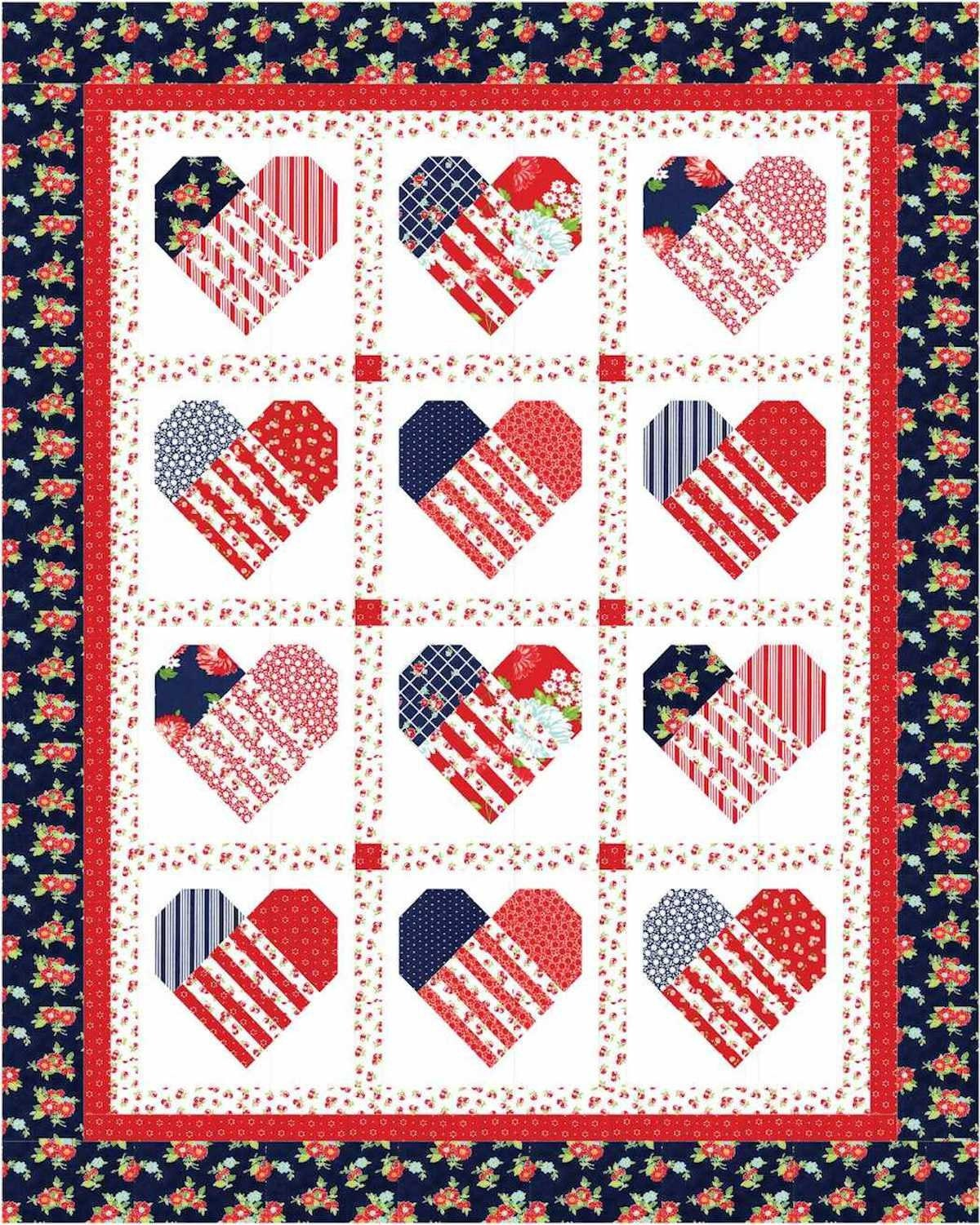 Close to My Heart PDF Quilt Pattern | Etsy