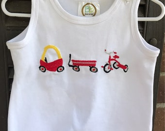 Cozy Coupe Baby Bubble, Romper, or Tshirt