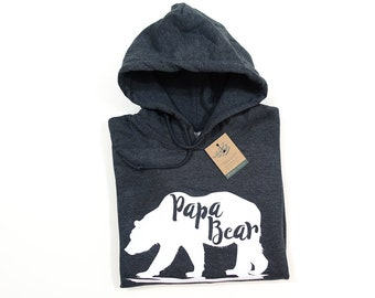 eaa146ca Papa Bear Hoody, Gifts for men, Gift For Dad, Christmas Gift, Jackets For  Men, Dads Christmas Gift, First Fathers Day, Daddy Bear Hoodie,