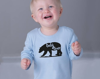 Baby Shower Gift, Mommy And Me, Baby Girl Gift, New Baby Gift, Baby Bear Tshirt, Girls Tops, Toddler outfits, Gender Neutral Shirt