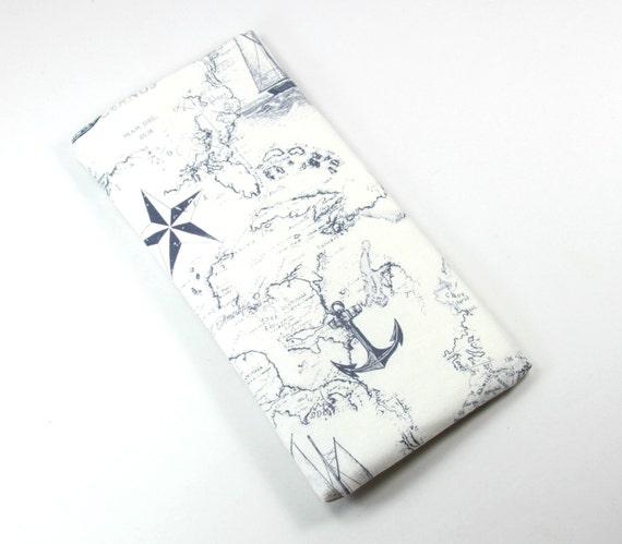 Ancre de BATEAU sac en tissu, sac au design Mag, mer carte design sac, sac au design d'ancrage, l'ETUI a lunettes étui lunettes