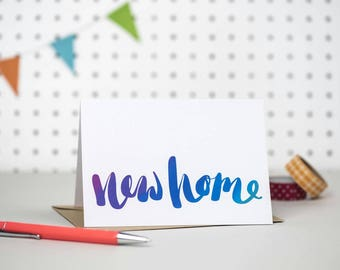 New home card | We've moved card