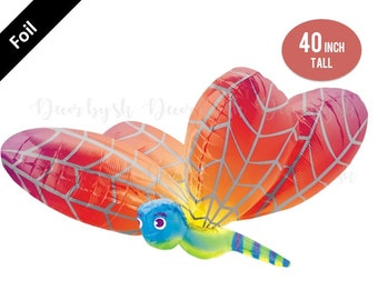 40 inch Jumbo DRAGONFLY Balloon, RAINBOW PARTY, celebration, graduation, wedding, graduation, rainbow theme, birthday decoration