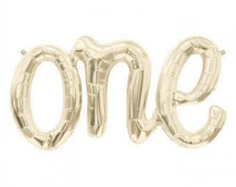 30 pouces large un SCRIPT ballon, l'Air-Fill, fête d'anniversaire, Baby Shower, calligraphie, Light Gold