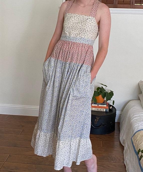 Patchwork Floral Maxi Dress - image 1